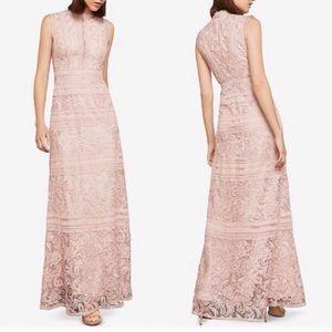 BCBGMaxazria Dusty Pink Lace Crochet Formal Gown 6